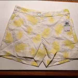 New with Tags Micheal Kors Yellow Palm Leaf Shorts